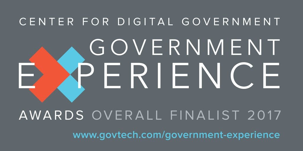 Inaugural Government Experience Award Finalist for 2017